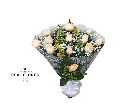 1436 1 dúzia de rosas champanhe