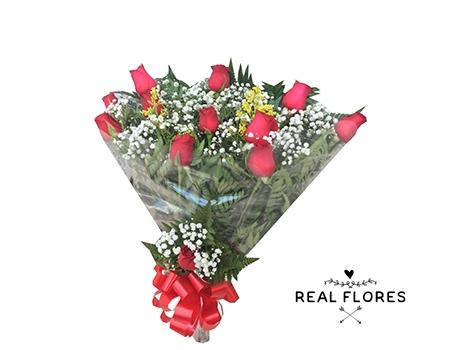 1437 1 dúzia de rosas simples