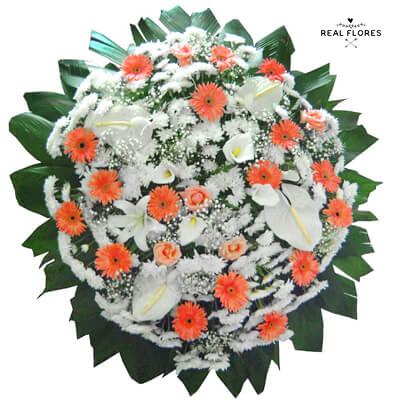 5142 Coroa de flores Orange